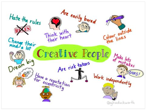 what makes a creative person